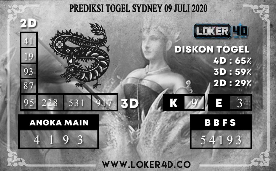 PREDIKSI TOGEL LOKER4D SYDNEY 09 JULI 2020