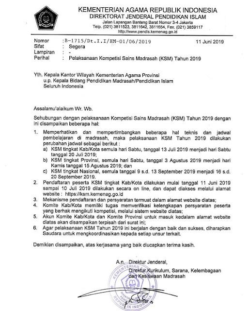 Edaran Revisi KSM 2019