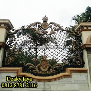 Contoh Pagar Besi Tempa  yang Dzaky Jaya pasang di Makassar.