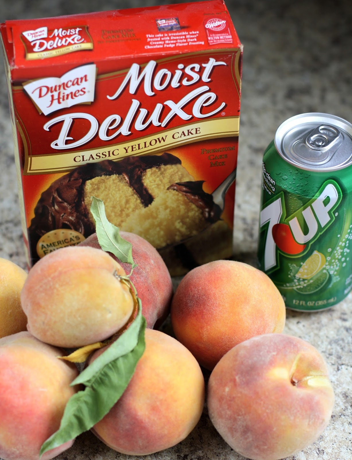 Peach Cobbler Canned Peaches Cake Mix