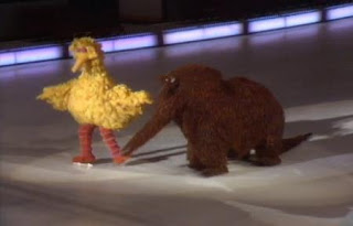 Big Bird wants to teach Snuffy how to ice skate. Sesame Street Best of Friends