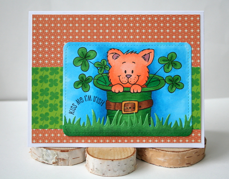 St. Patrick's Day Card by Jess Moyer featuring Gerda Steiner Designs Digital Stamp