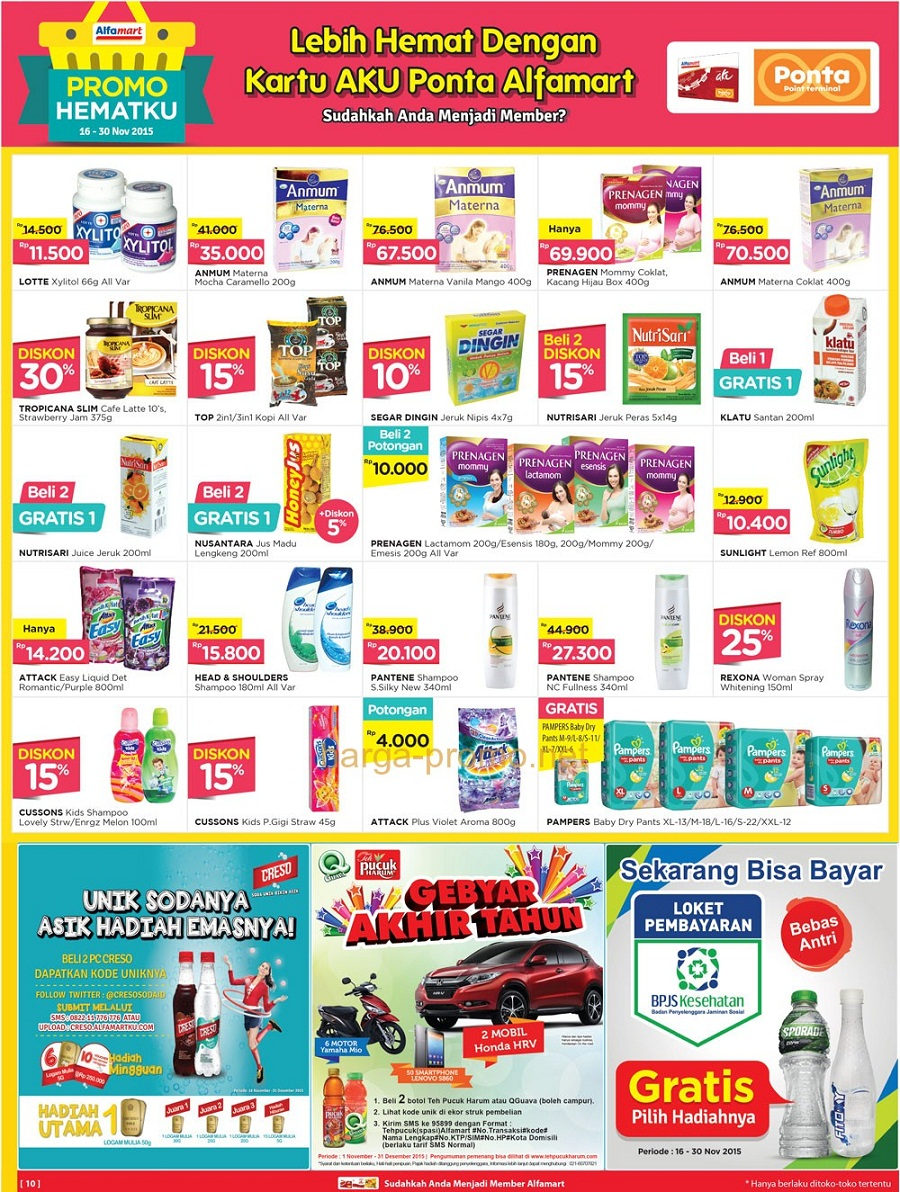 Katalog Harga Promo Alfamart 16 30 November 2015