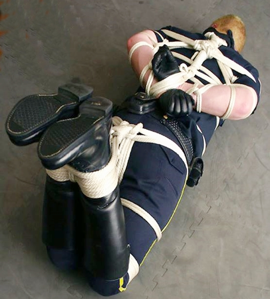 image Cop tied up and in bondage gay hot