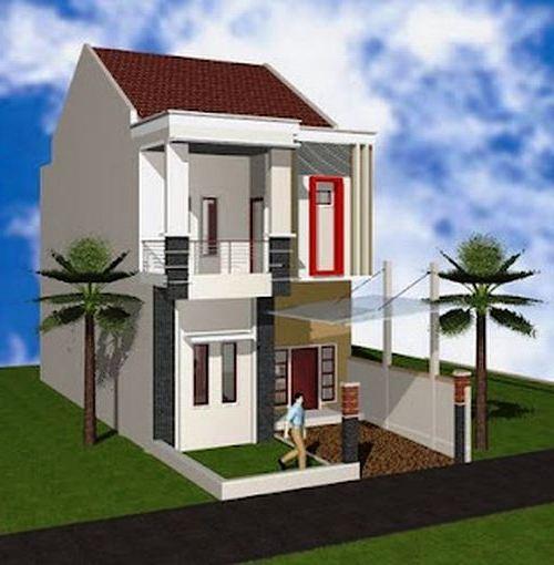 Desain Rumah Minimalis 2 Lantai Type 36 Tampak Depan
