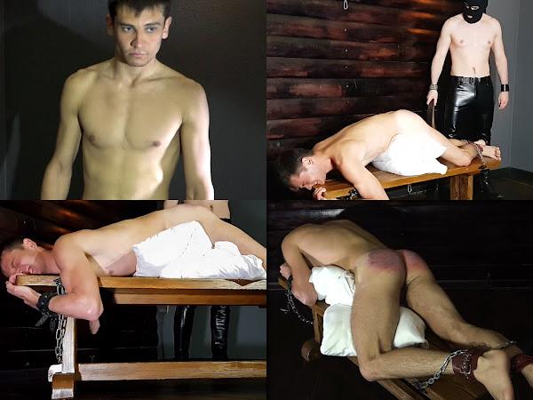 #RusStraightGuys - Belt spanking for straight Serega for credit rate