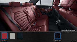 Nội thất Mercedes C300 AMG 2018 màu Đỏ Cranberry 267