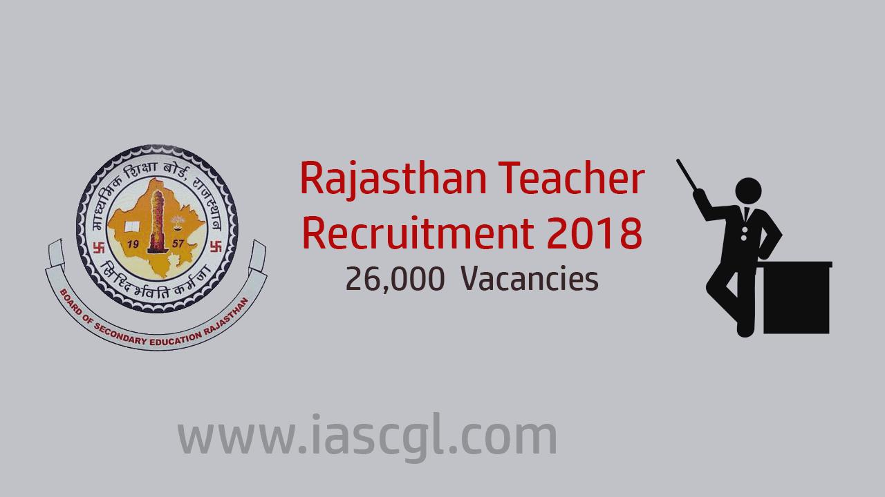 Rajasthan Techer Recruimtent 2018