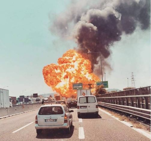 Three dead and 67 others were injured after a tanker truck exploded on a highway in Italy