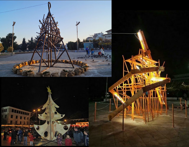 Γιάννενα: Με παραδοσιακό Χριστουγεννιάτικο Δέντρο,φέτος η κεντρική πλατεία!