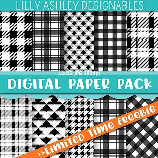 free plaid digital paper