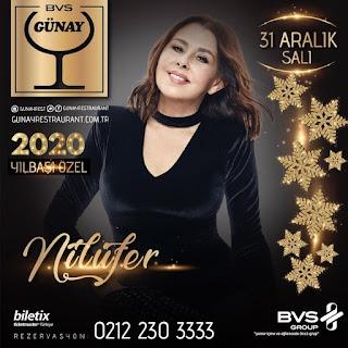 Günay Ankara Yılbaşı Programı 2020 Menüsü Nilüfer Yılbaşı Konseri Programı