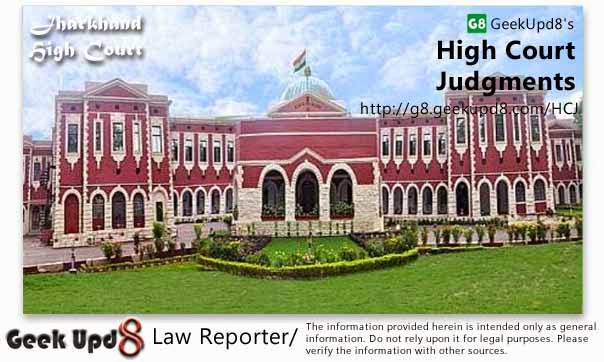Jharkhand High Court, Ranchi Judgments