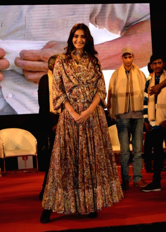 Actors Sonam Kapoor at the song launch of their upcoming film PadMan