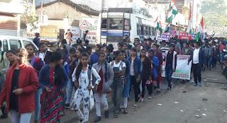 सीएए के समर्थन में हजारों लोगों ने मिलकर निकाली जागरुकता महारैली