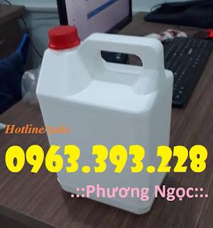 Can nhựa đựng hóa chất, can nhựa HDPE, can có nắp chống tràn 5L