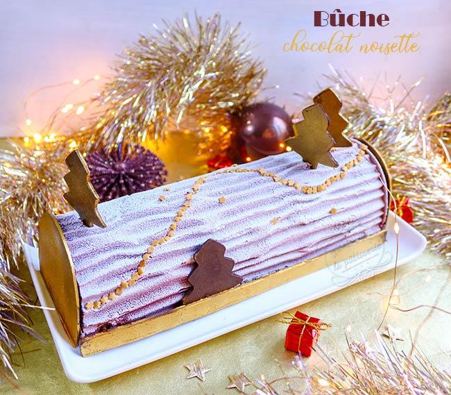 Buche de Noël chocolat noisette