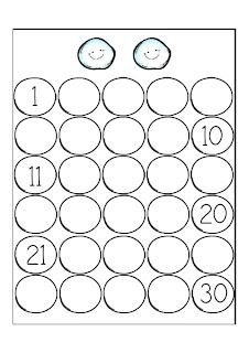 serie numérica para niños completar