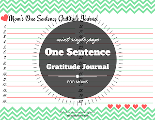 Mom2MomED: One sentence gratitude journals