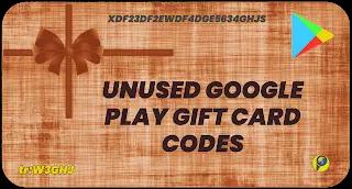 Free Google Play Gift card codes unused list 2021