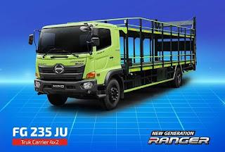 Hino Rilis Truck Ranger FG 235 JU Bebas ODOL Untuk Angkut Motor