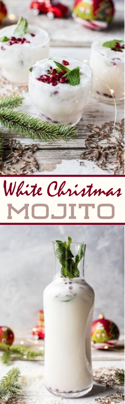 White Christmas Mojito #alcohol #drinks #christmas #mojito #party