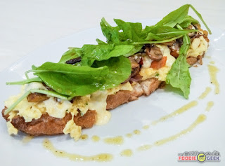 mixed mushroom, roasted vegetables toast, Yummy All-Day Brunch Meals at Little Owl Cafe
