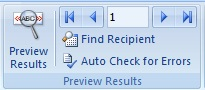 Mailing Tab MS Word