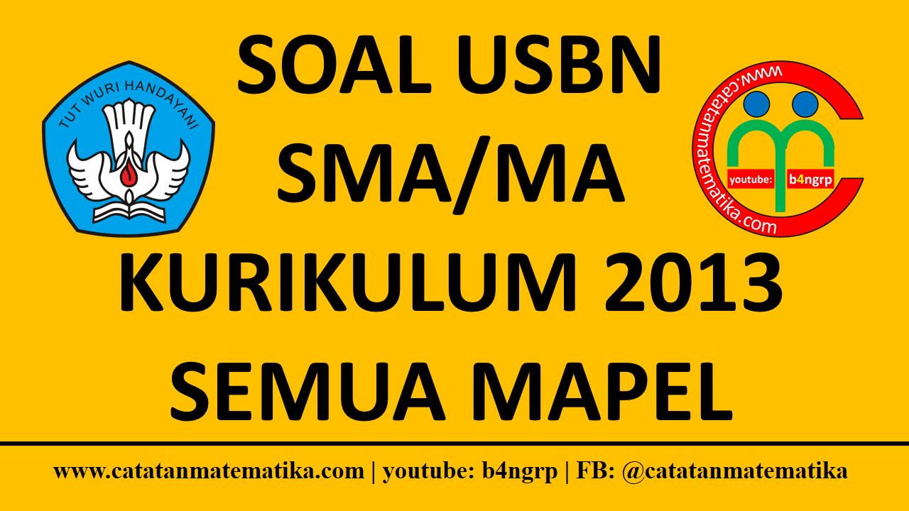 Download Soal USBN 2019 SMA-MA-SMK