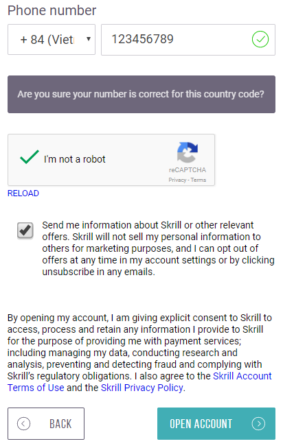 Đăng ký tài khoản Skrill