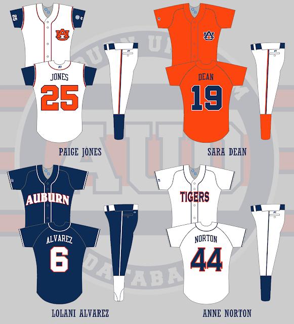 auburn softball uniform 2005