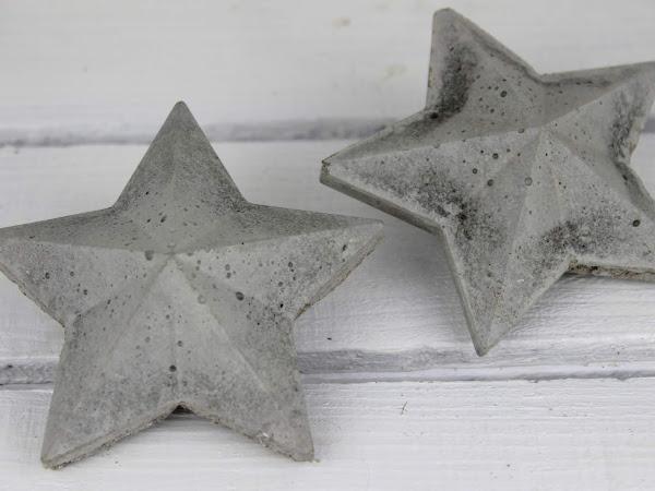 DIY 3D Beton Sterne selber machen - eine wundervolle Weihnachtsdeko