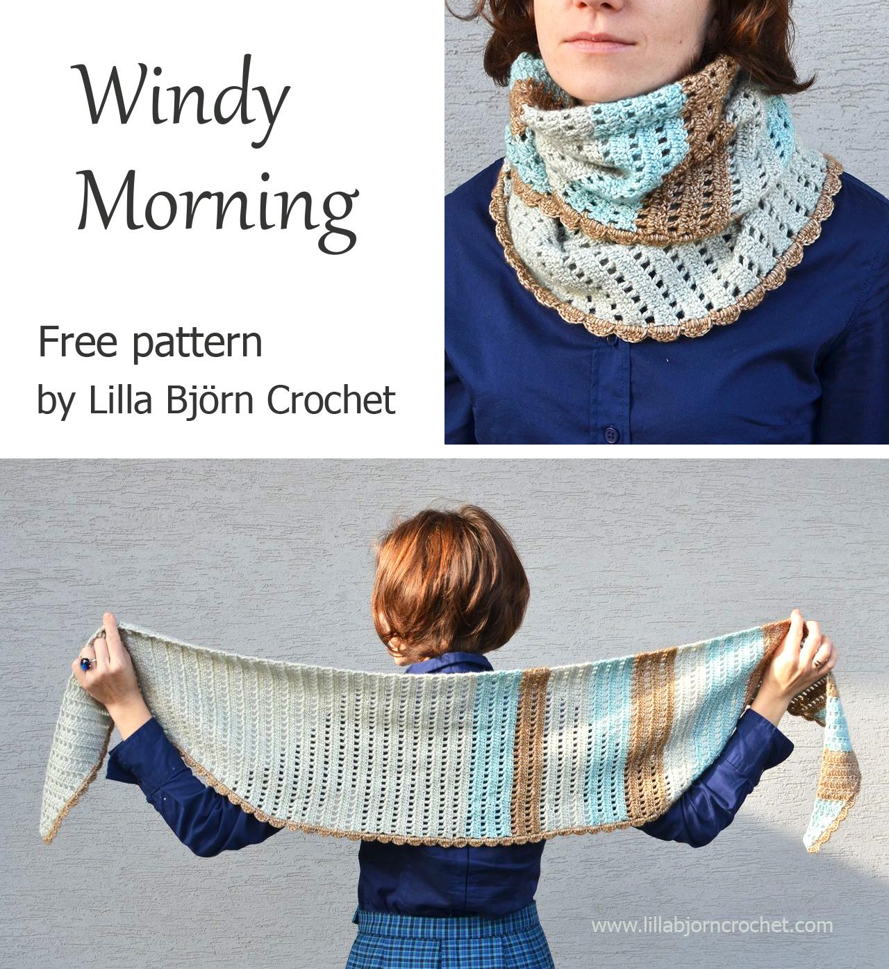 Windy Morning Shawlette: free crochet pattern | LillaBjörn\'s Crochet ...