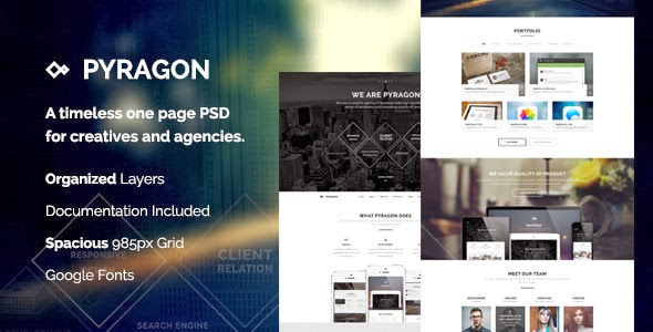 One Page Premium PSD theme