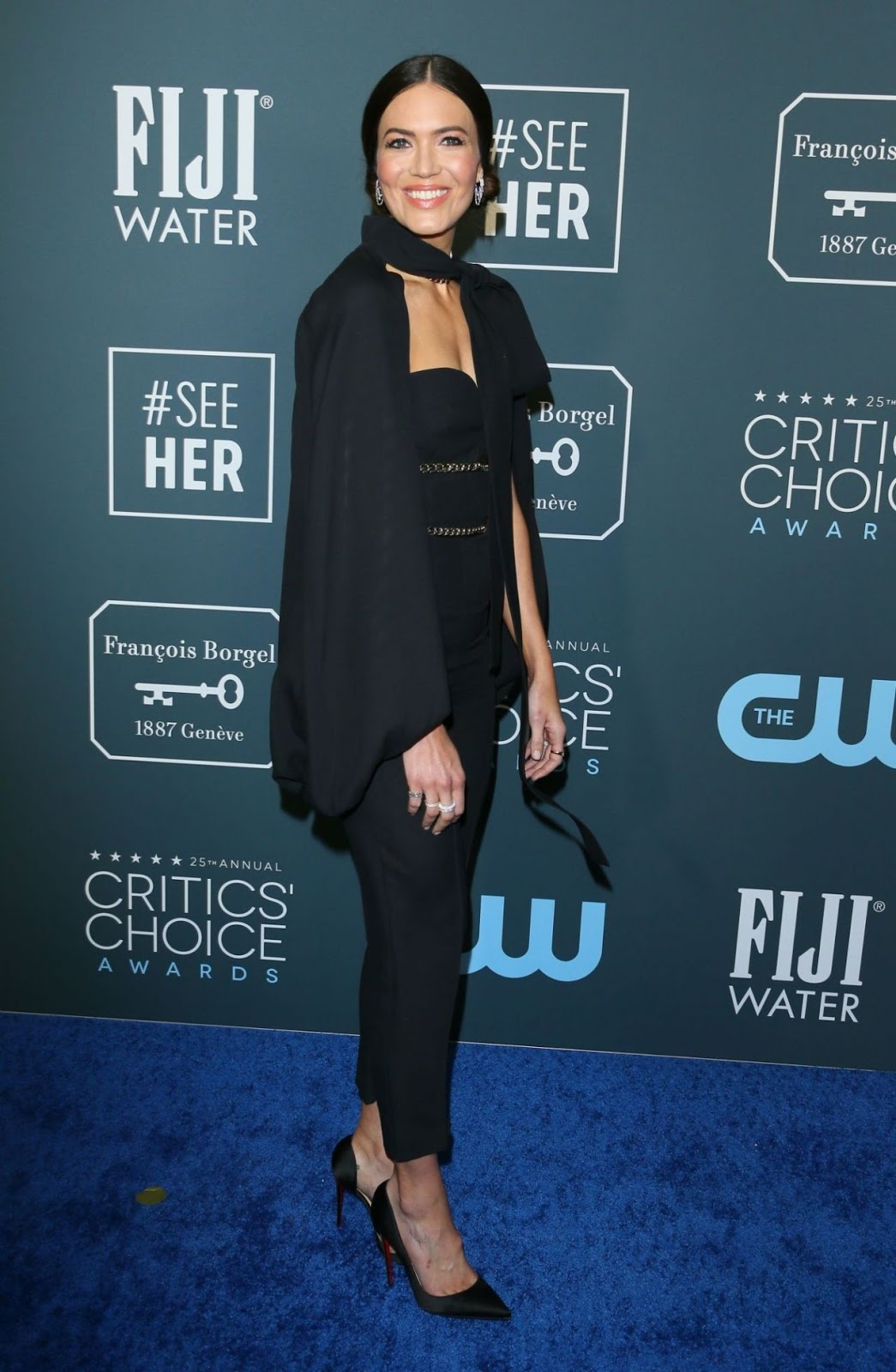 Mandy Moore Ditches the Dress for Posh Red Carpet Look at the 2020 Critics' Choice Awards