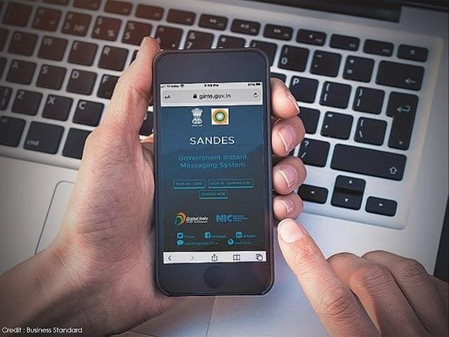 भारत सरकार ने Whatsapp की तरह एक भारतीय ऐप Sandes को उतारा है जो हुबहू Whatsapp की तरह काम करेगा