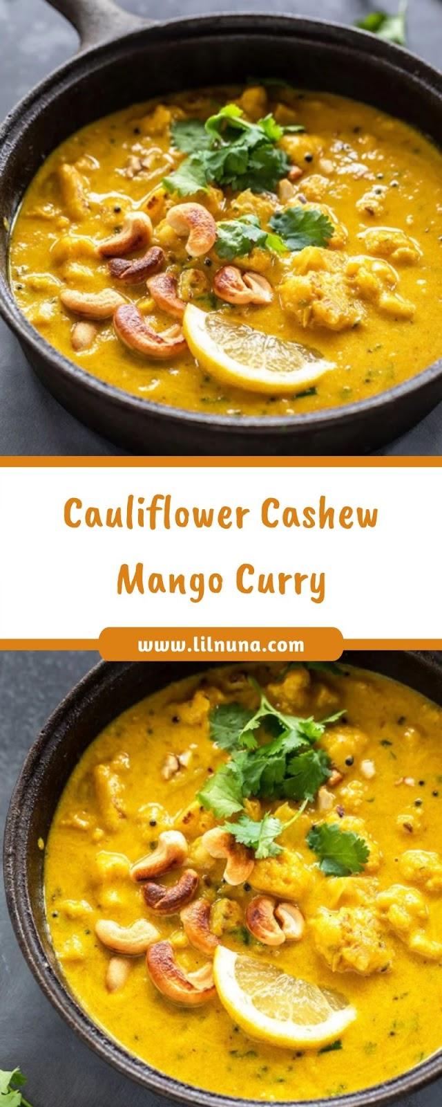Cauliflower Cashew Mango Curry
