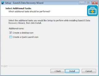 Install Software EaseUS Data Recovery Wizard Professional