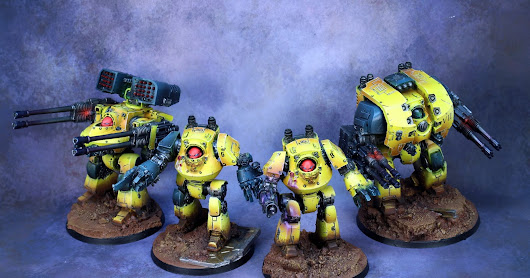 [Painting commission] Contemptor Imperial fist, tabletop +.
