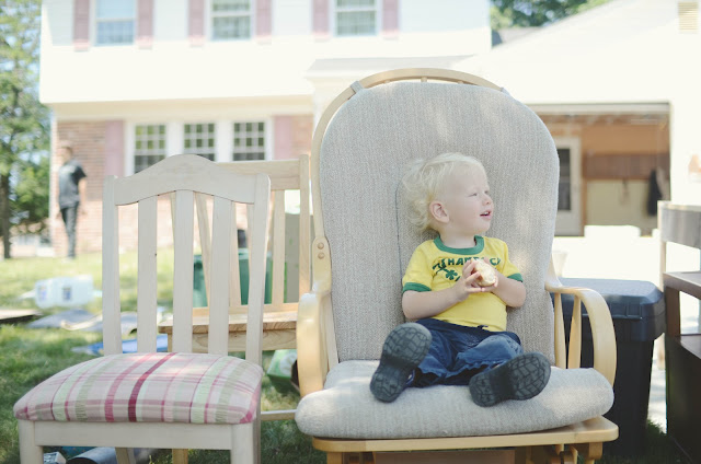 baby, cute, rocking chair, outside, moving