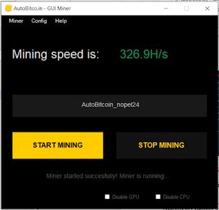 Mining Bitcoin Dengan Auto Bitcoin