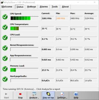 Monitorare temperature ed attività di sistema con Whysoslow