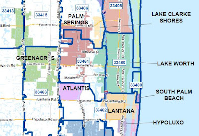 Palm beach county zip codes and cities