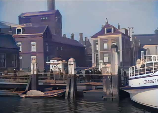 Dordrecht, Holland, in 1925 in color randommusings.filminspector.cmo