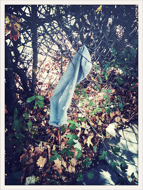 Abandoned sock