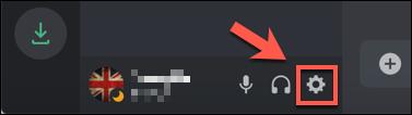 اضغط على أيقونة الإعدادات الموجودة بجانب اسم المستخدم الخاص بك في الزاوية السفلية اليسرى من تطبيق Discord أو موقع الويب.