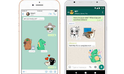 stickers in whatsapp messenger