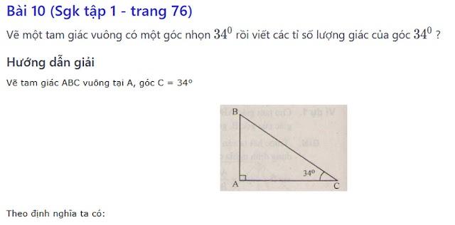 Giải bài tập sách giáo khoa toán 9 - Hình Học [Bài 10 - Bài 17]