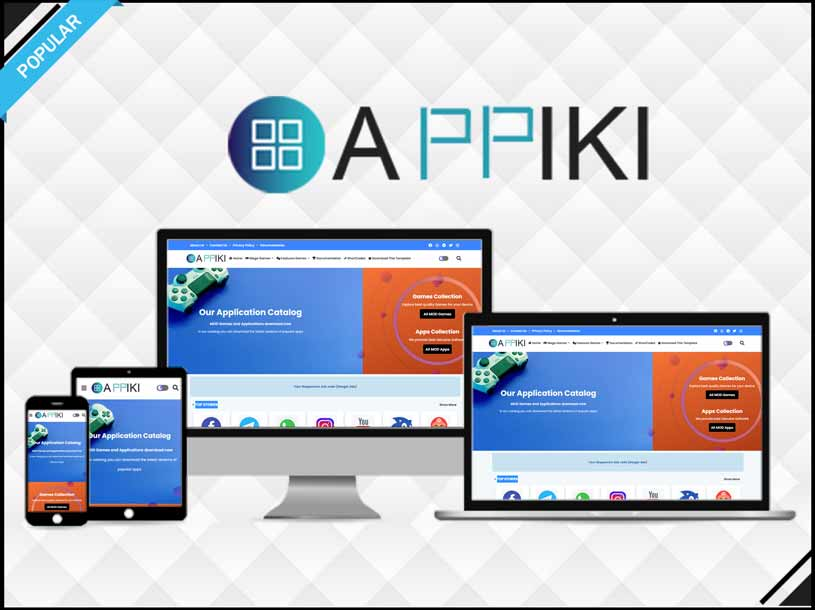 Appiki - App Store & Review Blogger Template