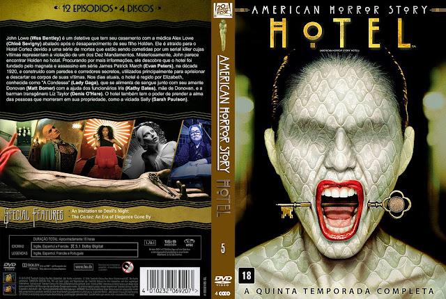 Capa DVD American Horror Story Quinta Temporada Hotel [Exclusiva]